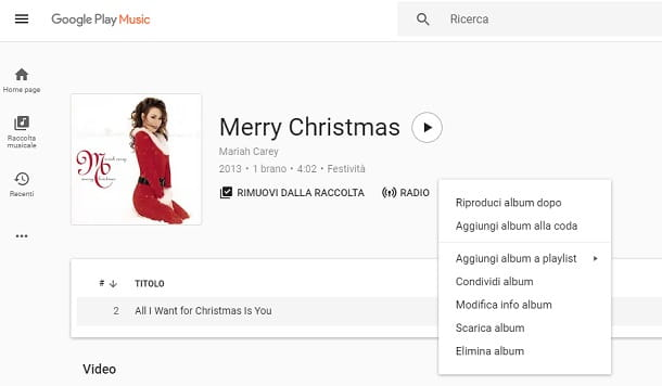Google Play Musica da web player