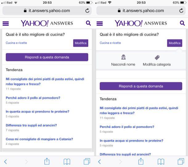 Domande anonime su Yahoo