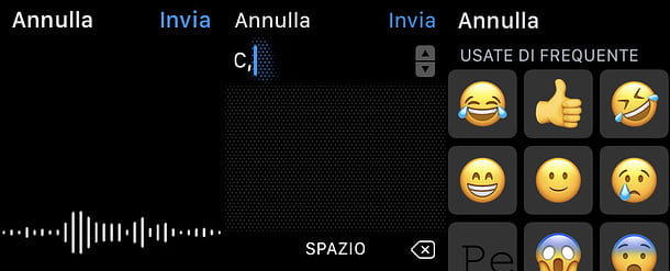 Risposta a WhatsApp su Apple Watch
