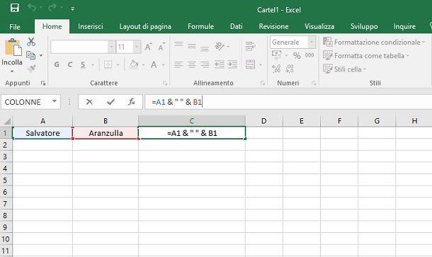 Operatori di funzioni in Excel