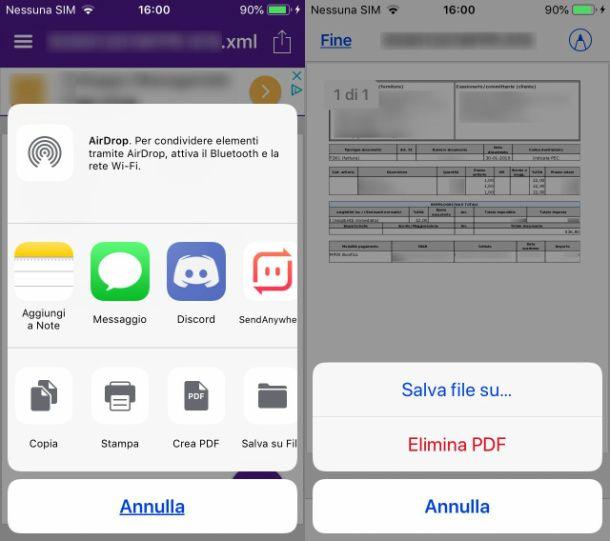P7M Viewer su iPhone