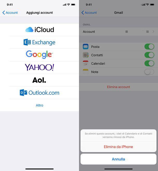 Come cambiare account Mail su iPhone