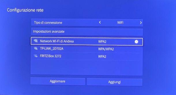 Connessione TV a Internet