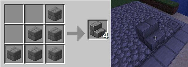Scalino di mattoni di pietra