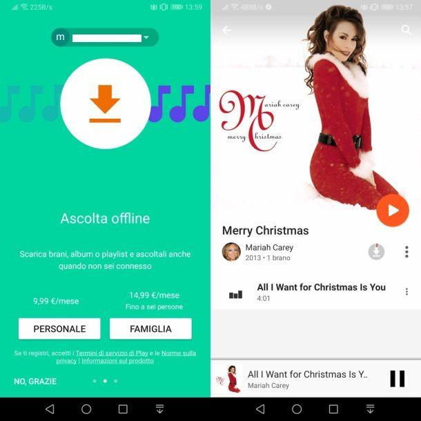 Scaricare musica da Google Play Musica