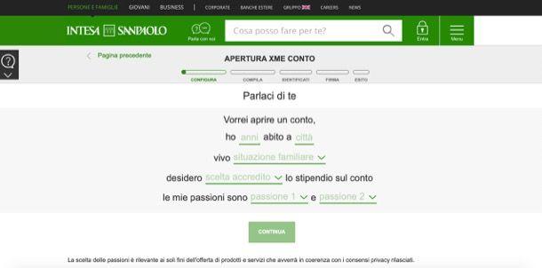 Intesa San Paolo conto online