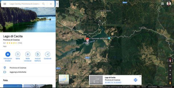 Coordinate GPS su Google Maps Web