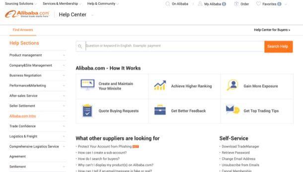 Help Center Alibaba
