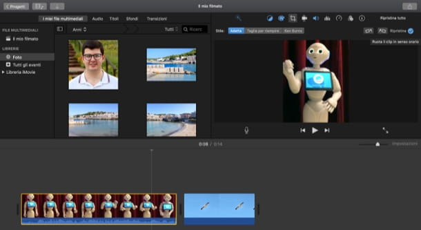 Esportare video in verticale su iMovie