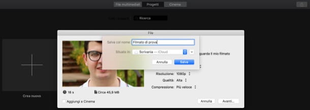 Esportare video iMovie in MP4