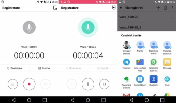 Registratore di Android