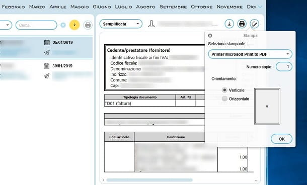 Stampa in PDF con AssoInvoice