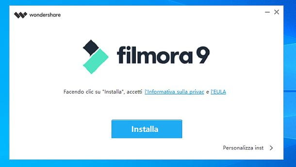Installazione Filmora su Windows
