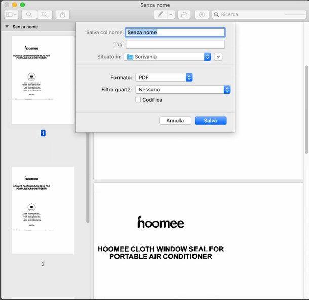 Scannerizzare PDF in più pagine su Mac