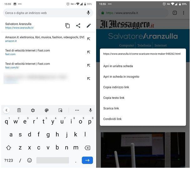 Come copiare un link dal cellulare Android