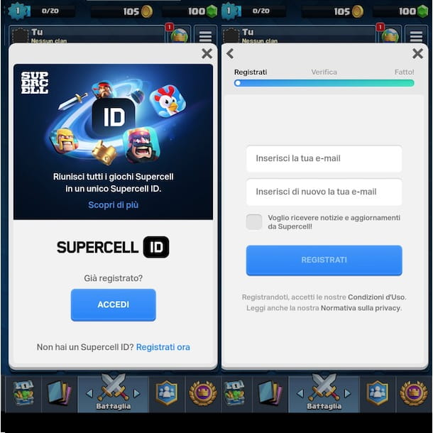 Creare Supercell ID
