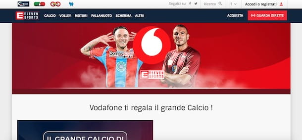 Eleven Sports gratis con Vodafone