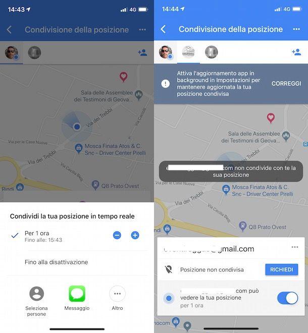 Posizione Google Maps iPhone