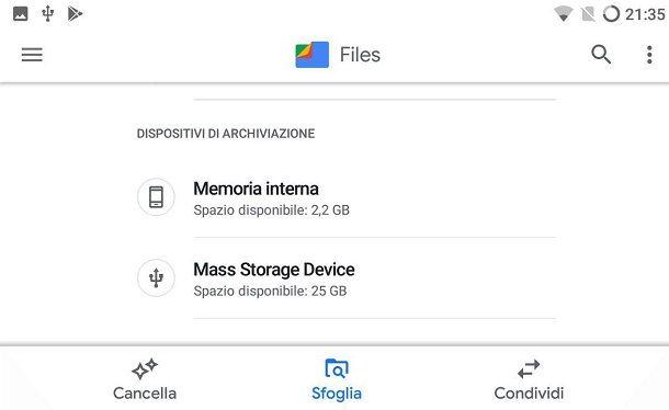 Come leggere la chiavetta USB su tablet Android