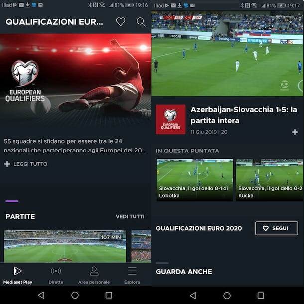 Mediaset Play su Android