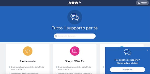 Chat di NOW TV