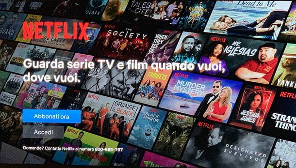 Come abbonarsi a Netflix su TV