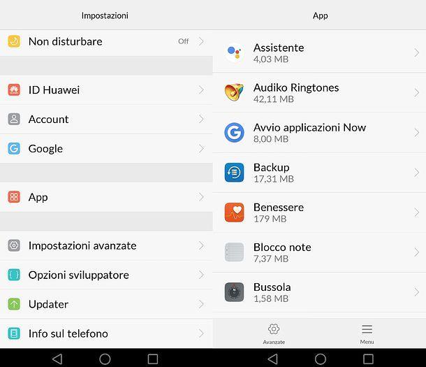 Lista app Huawei