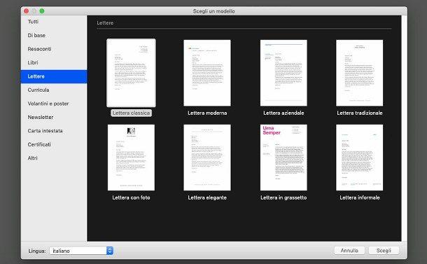 Come scrivere una lettera su Mac