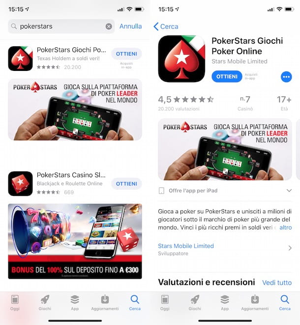 Scaricare PokerStars su iPhone