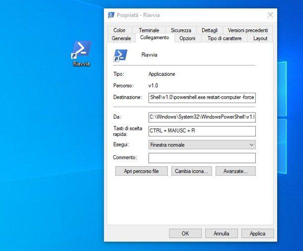 Come riavviare Windows 10 da tastiera