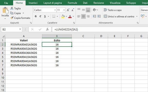 riferimenti formula Excel