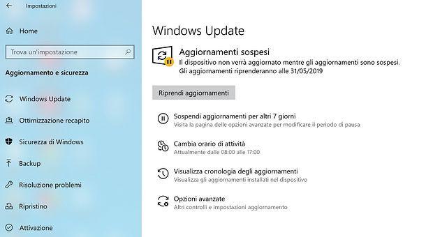 Come riavviare Windows 10 senza installare aggiornamenti