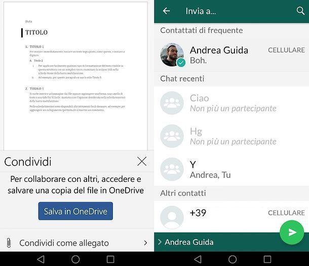 Come inoltrare allegati email su WhatsApp