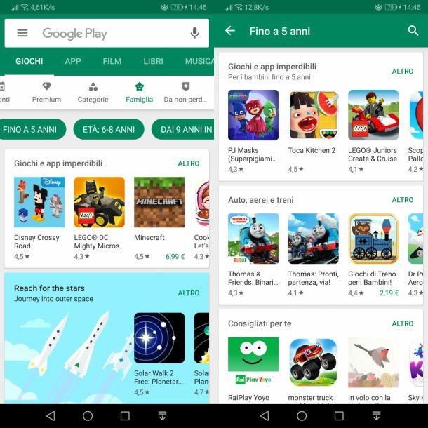 scaricare giochi gratis per bambini su Android