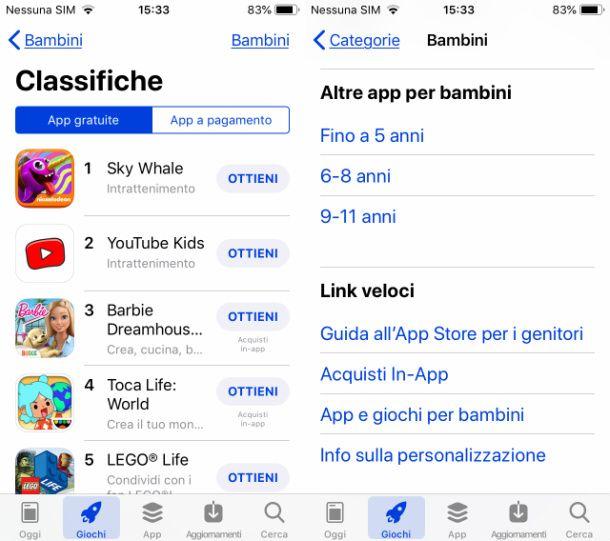 scaricare giochi gratis per bambini su iOS