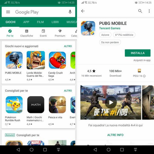 Scaricare giochi gratis su Android