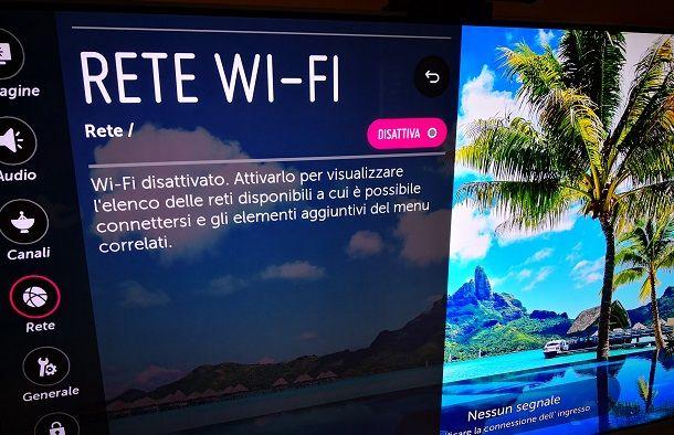 Come scollegare Smart TV dal WiFi