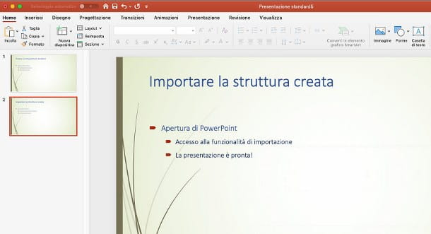 Come si fa un Power Point su Word per Mac