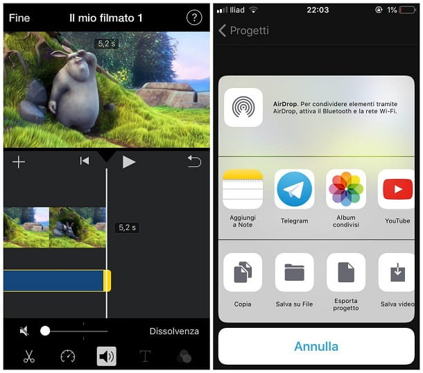 Come rimuovere l'audio da un video con iPhone