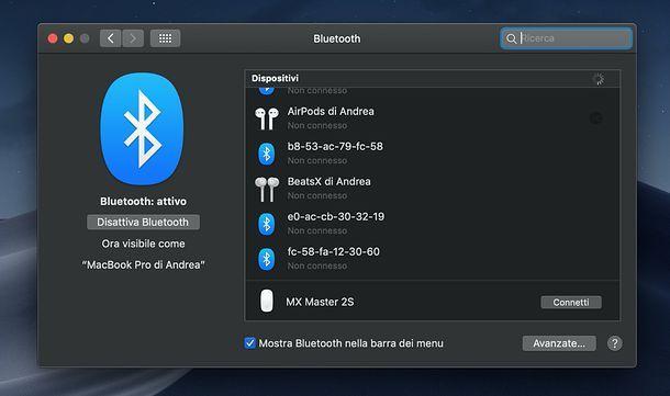 Installazione Logitech MX Master 2S su Mac