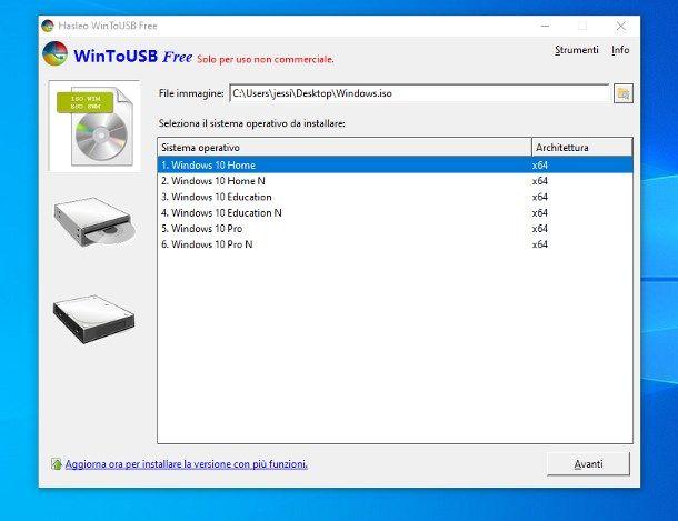 Come installare Windows 10 su SSD esterno