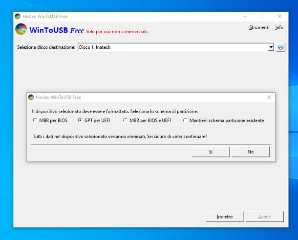 Come installare Windows 10 su SSD esterno