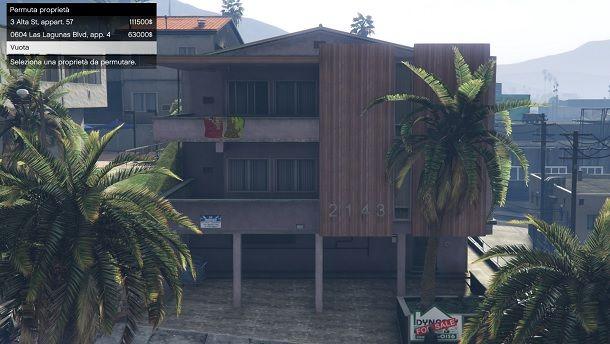 Acquisto casa tramite cartellone di vendita in GTA Online