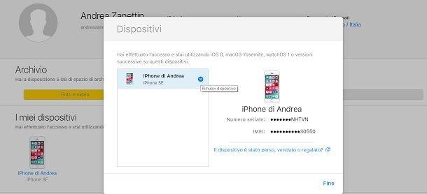 Come dissociare due iPhone da iCloud