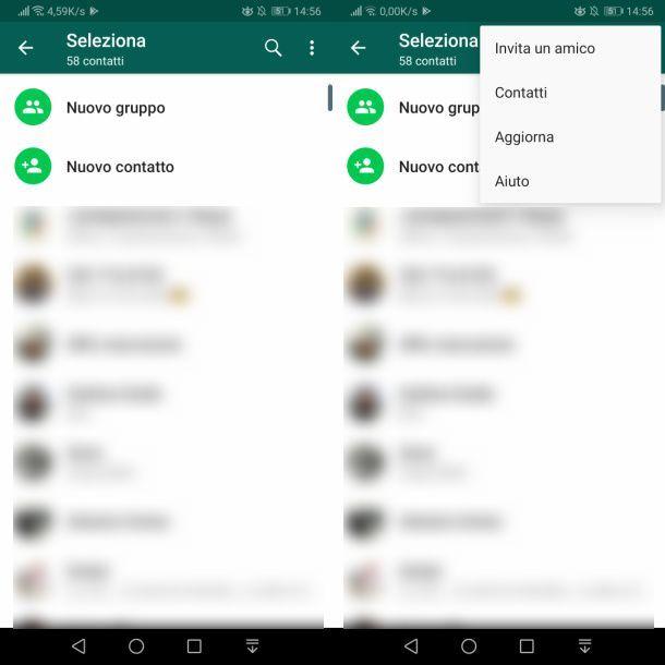 Come eliminare contatto da rubrica WhatsApp