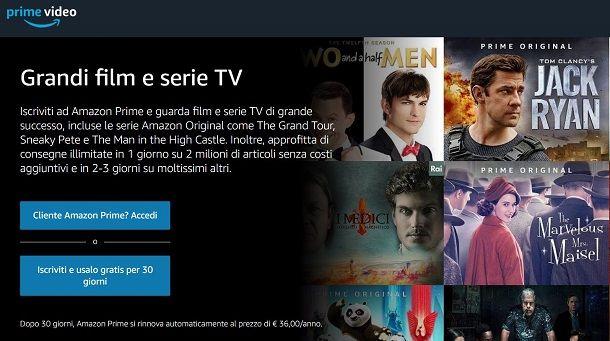 Prime video prezzi