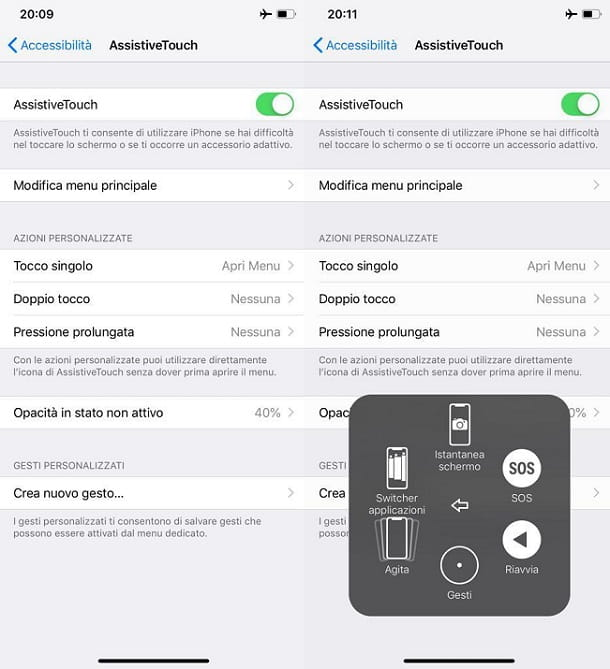 Riavviare iPhone XR Assistive Touch
