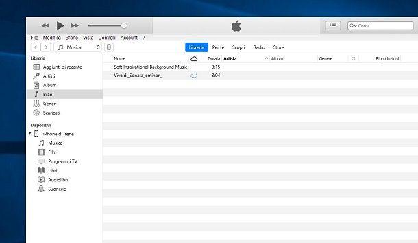 Sincronizzare musica su Libreria iCloud