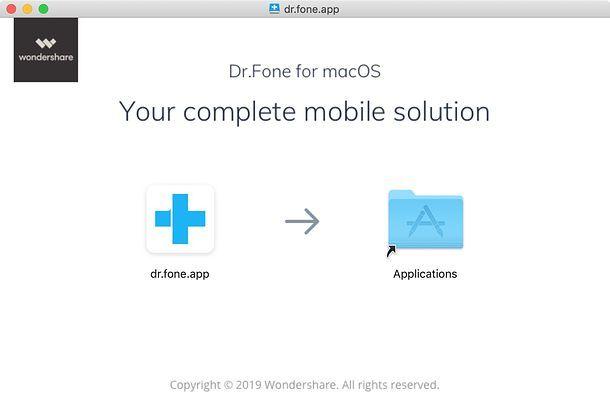 Installazione dr.fone su Mac