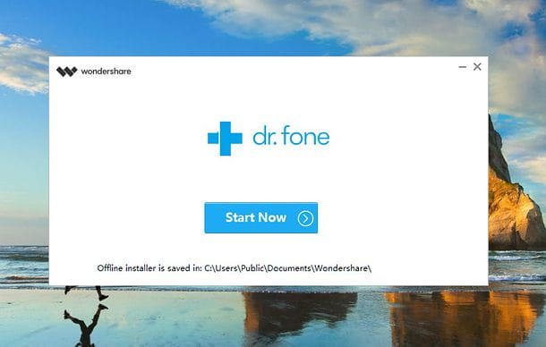 Installazione dr.fone su Windows